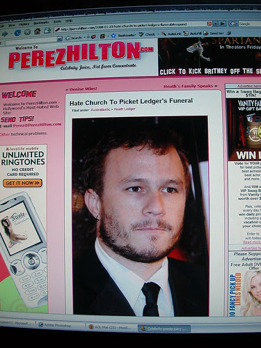 The story I broke to Perez Hilton