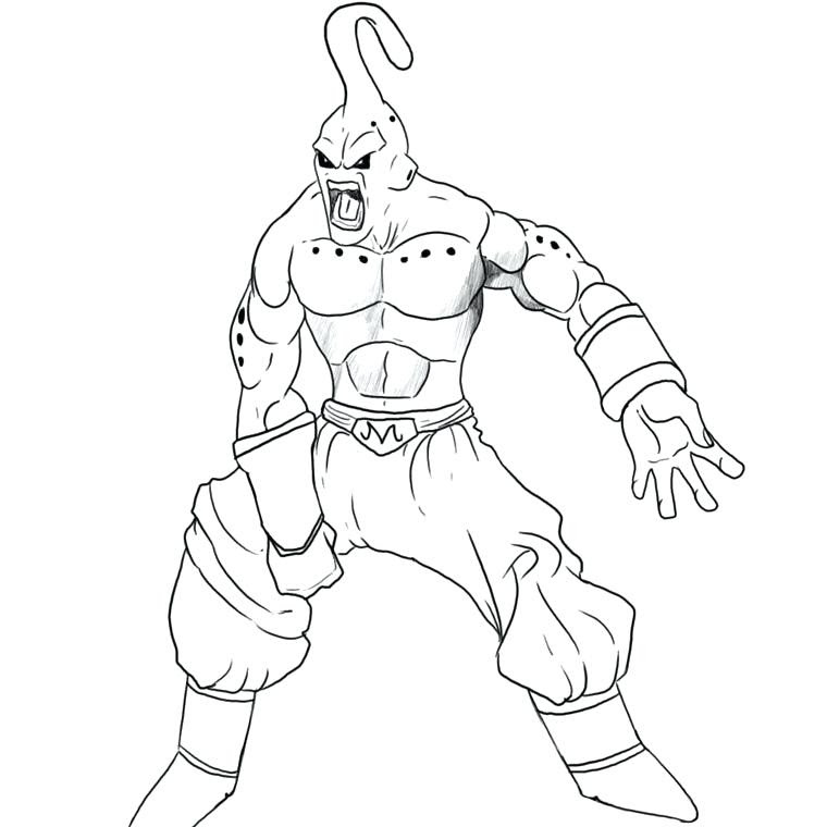 Dragon Ball Z Kai Coloring Pages At Getdrawingscom Free For