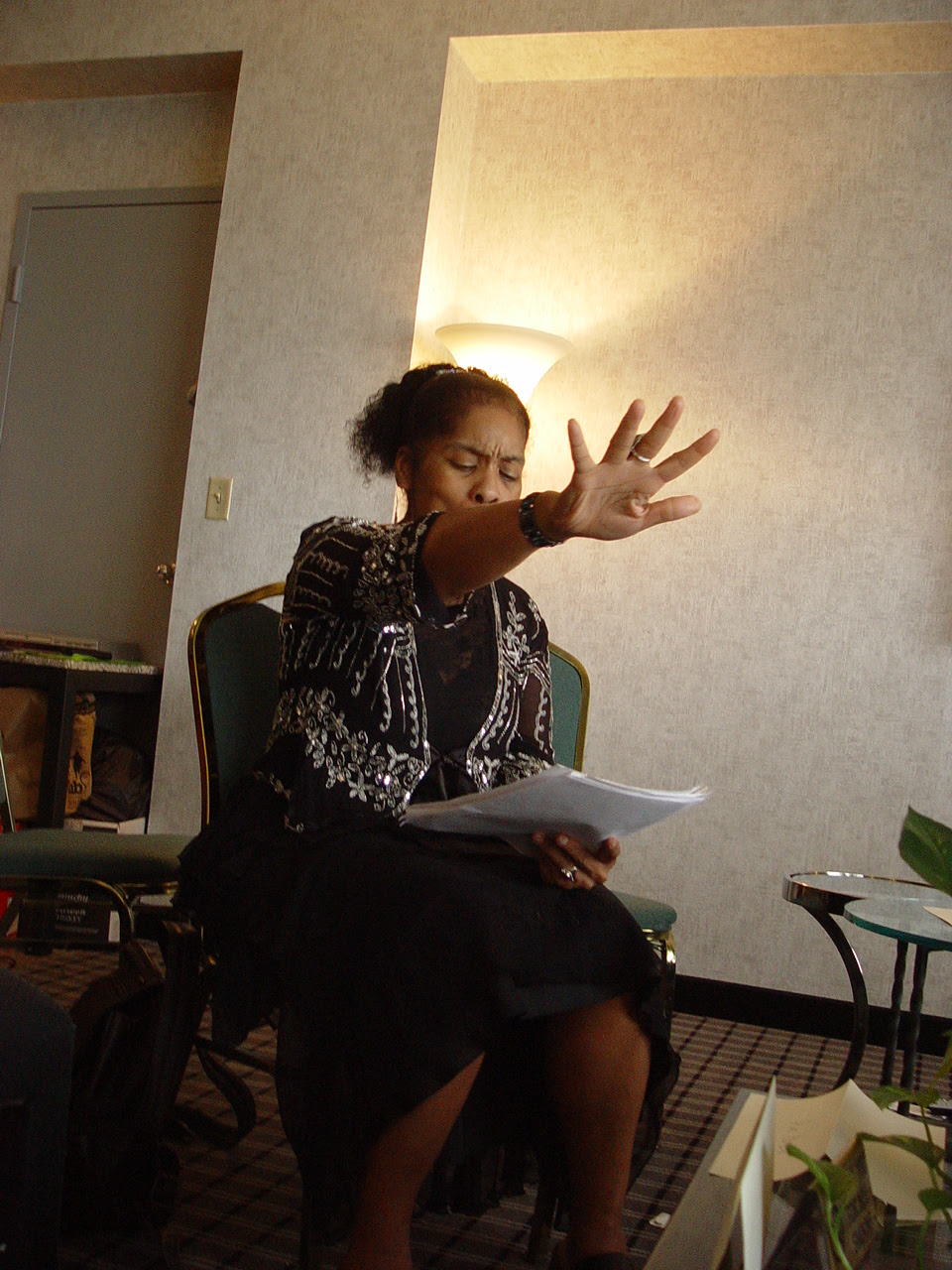 Andrea Hairston gives a reading from Mindscape.