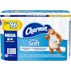 Charmin Ultra Soft Bath Tissue, Unscented, Mega Rolls, 2 Ply - 4 - 6 roll pack