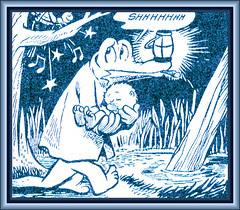 Albert Carrying Pogo - Walt Kelly