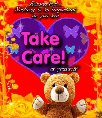 Take Care Card Just For You. Free Take Care eCards