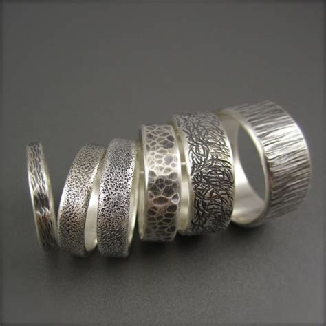 Textured Silver Ring   Jewelry   Contemp   Sterling silver