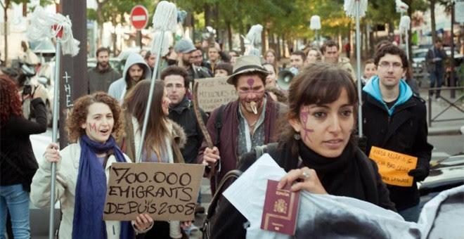 Protesta en París de la Marea Granate. MAREA GRANATE
