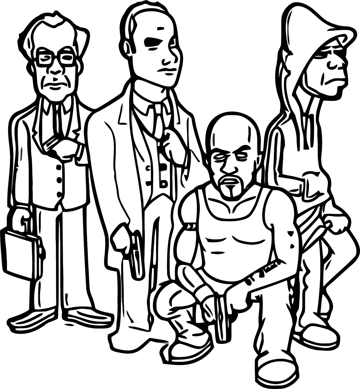 Computer Game Character Designs Cartoonized Coloring Page ...