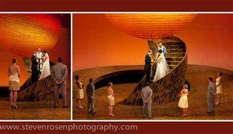 This wedding took place on the stage of the Lion King in
