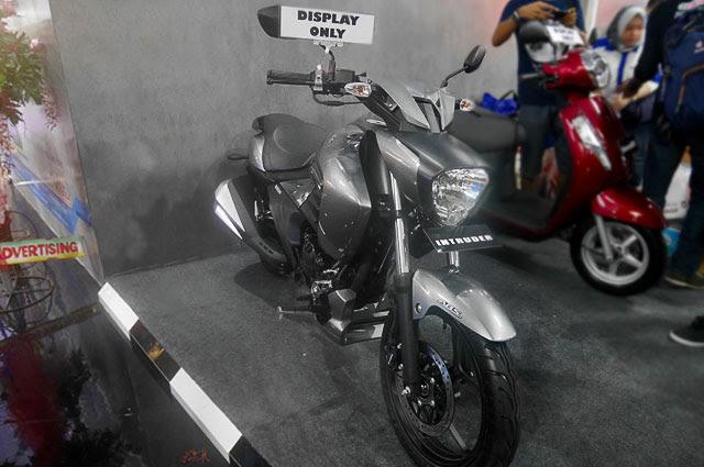 Ada yang menarik di booth Suzuki pada Pekan Raya Jakata  Ini loh Bung Suzuki Intruder 150, Cruiser Murah di Jakarta Fair, Minat?