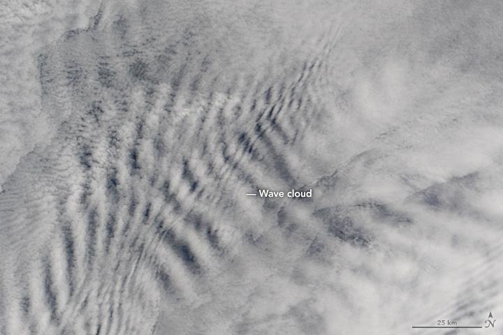 Cloud Wakes Behind the Prince Edward Islands