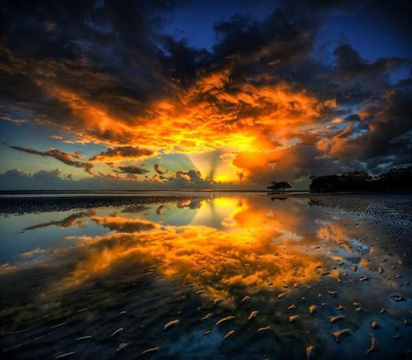 صور شروق الشمس - جديدة - موقع جزيرة خيال