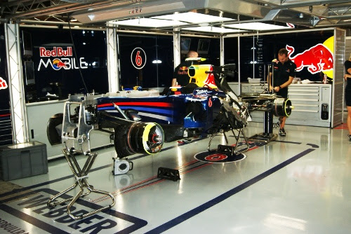 Red Bull Singapore F1 Pit Garage