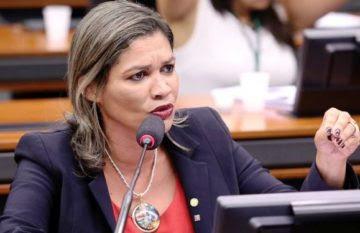 Rosângela Curado durante a audiência na Câmara