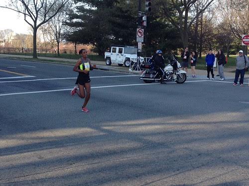 Elites finishing cherry blossom