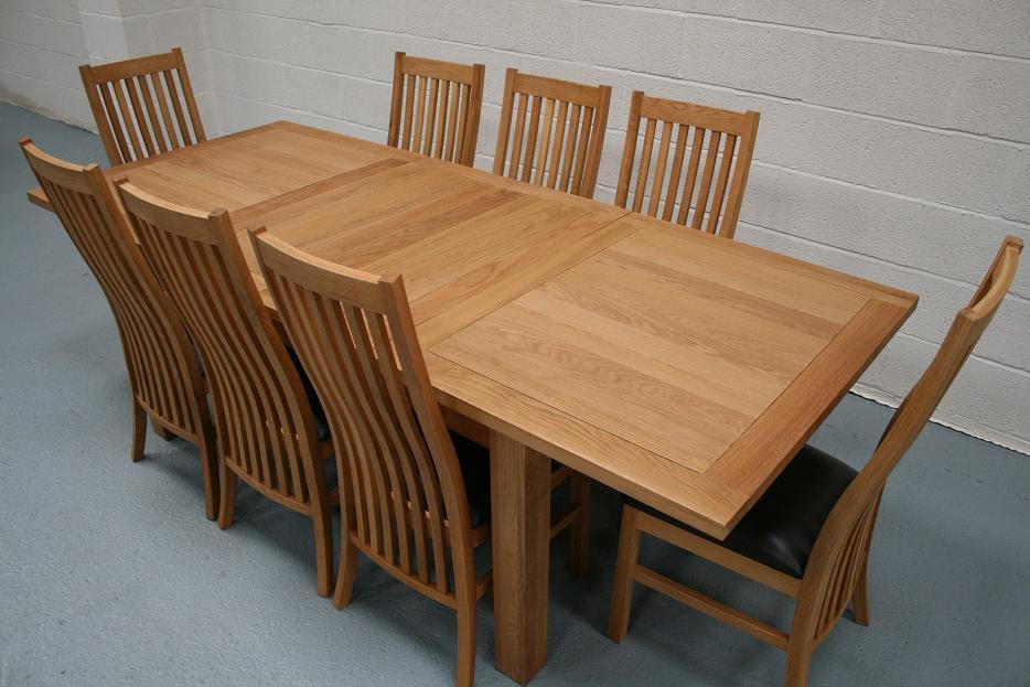 Extendable Dining Table Set For 8 Erigiestudio