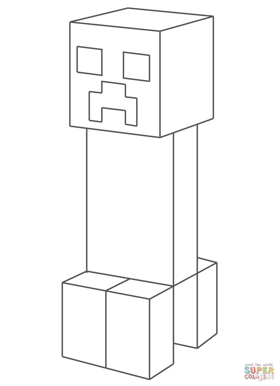 Kleurplaten Minecraft Creeper.Charmante Minecraft Kleurplaten Uitprinten Krijg Duizenden