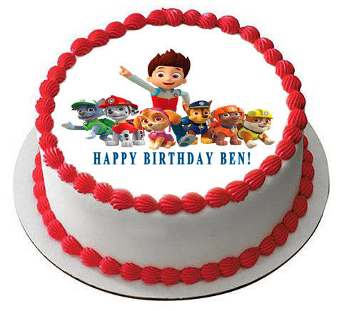 Paw Patrol 5 Edible Birthday Cake Or Cupcake Topper Edible Prints