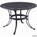 Home Styles Biscayne Black Outdoor Round Dining Table 42 inch