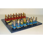 Royal Chess R71291-BL Camelot Busts Acrylic Base Blue Set - Chess Sets Resin