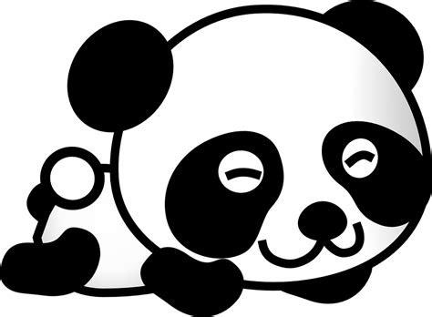 gambar vektor gratis panda kartun beruang hewan lucu