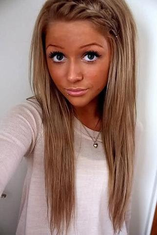 Haare Caramel Blond