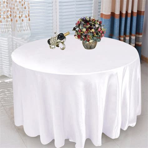 5pcs Round Tablecloth Modern Table Covers Elegant Wedding