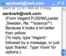 answer from Aardvark user