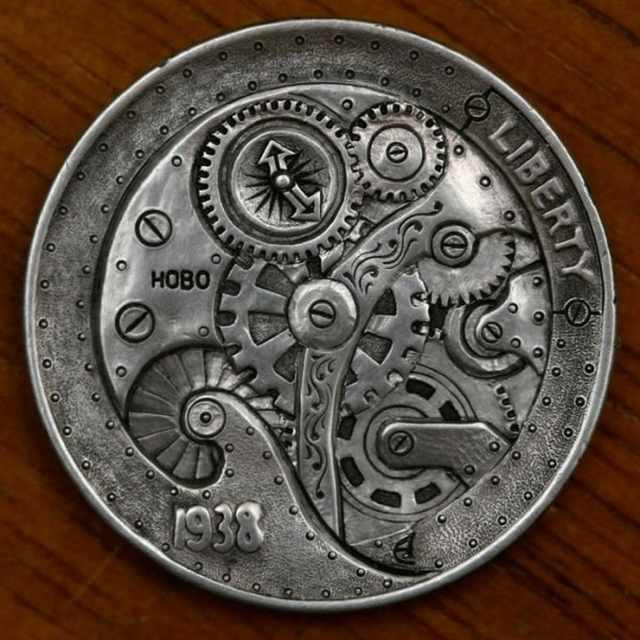 The hobo nickel is a sculptural fine art  degree involving the creative alteration of small-scale Beautifully Carved Coins