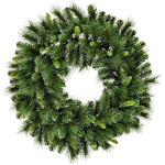 Vickerman G193760 60 in. Bangor Mixed Pine Wreath with 816 PVC & Hardneedle Tips