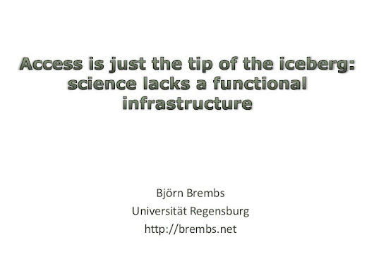 Access is only the tip of the iceberg: science needs a new infrastr...