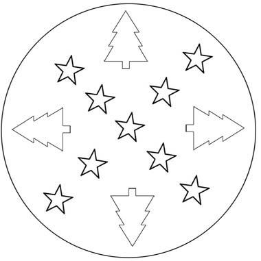 weihnachts mandala zum ausdrucken kostenlos - malvorlagen