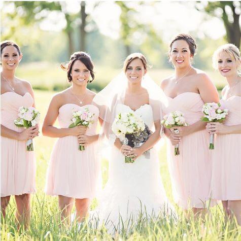Blush bridesmaid dresses @Sydney Trask