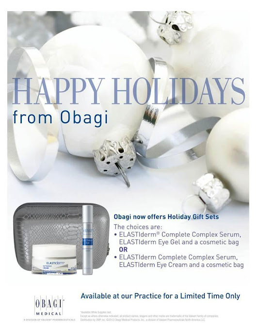 The Obagi Holiday Gift Sets Coming Soon! - Med Spa Skin2O - Hampton Roads Virginia, Suffolk Chesapeake Hampton Newport News Portsmouth OBAGI and SkinCeuticals skin care, BOTOX fat injections chemical peels and laser treatments, Restylane Juvederm Sculptra injectables and Radiesse for longer eye lashes.