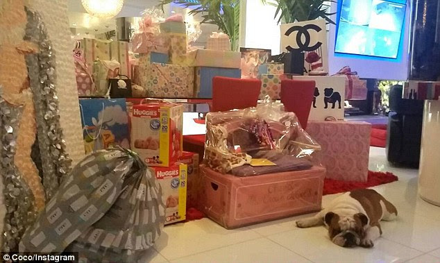 Gifts galore: Coco shared a snap of all the presents she received after the event