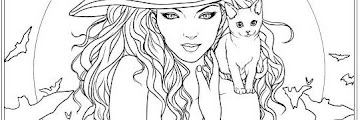 Witch Coloring Book Pages