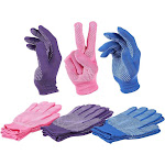 6 Pairs Women's Polyester Work Gloves - Knit Gloves - Garden Gloves, Purple, Pink, Blue