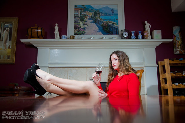 Table Shots - Jenny and the wine glass