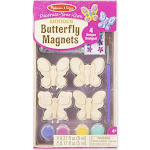Melissa & Doug Created by Me! Wooden Craft Kit, Butterfly Magnets