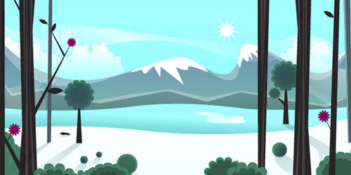 icy landscape illustrator