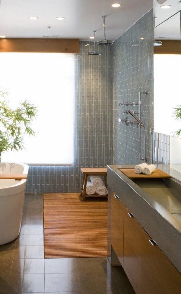 Japanese bathroom design - the exotic beauty of minimalism