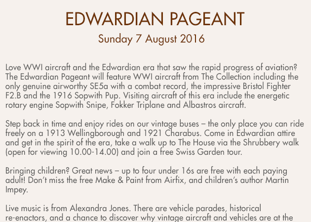 Edwardian Pageant