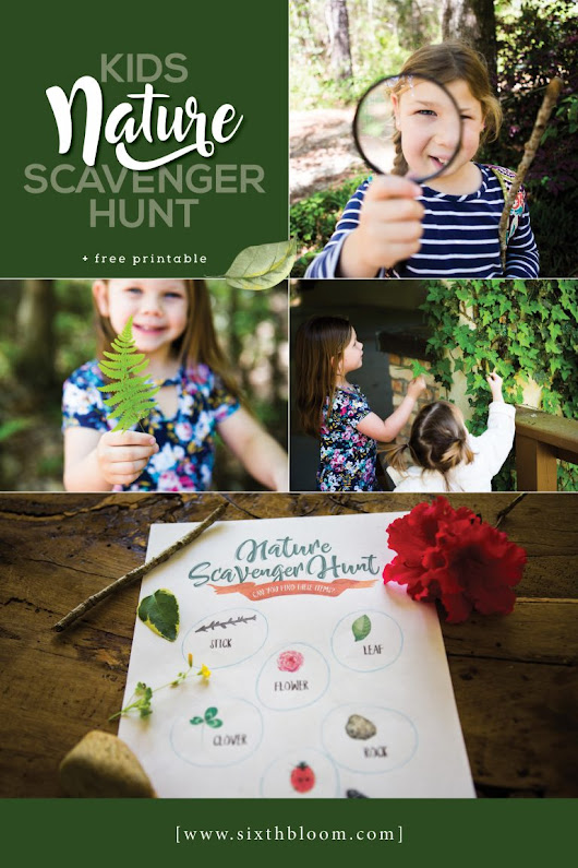 Kids Nature Scavenger Hunt - Free Printable - Sixth Bloom- Lifestyle, Photography & Family Blog