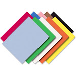 "Pacon Riverside Construction Paper, 76 lb,  Assorted Color, 12"" x 18"" - 50 sheet"