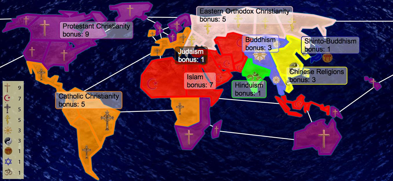 What Is The Religion Of Bharat - World religion map before islam