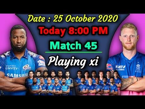 IPL 2020 - Match 45 | Mumbai Indians vs Rajasthan Royals Playing xi | MI vs RR Match Playing 11