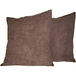 Hudson Street Faux Suede 22 x 22 in. Decorative Pillow - 2 Pack Brown