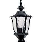 Madrona - 19 in. - 3 Lights - Lantern Heads - Black finish - Maxim Lighting 1015BK
