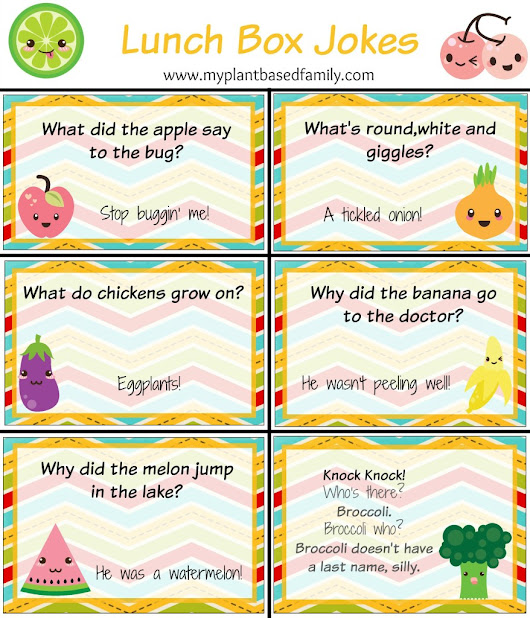 Free Printable Lunch Box Cards - My Plant-Based Family