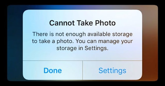 Taking Photo But iPhone Says Storage is Full - AppleToolBox