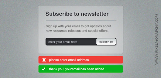 Free PSD: Newsletter Sign-up Form – Free PSD | Pixel Monarchy