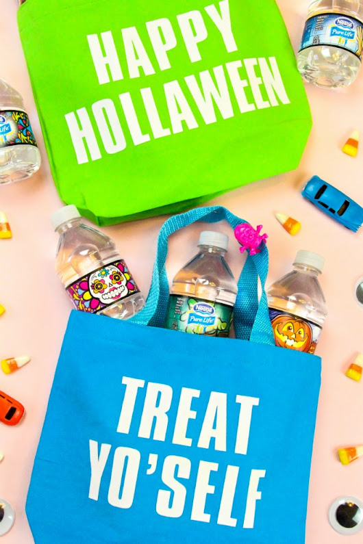 DIY Graphic Trick-or-Treat Tote Bags! ⋆ Brite and Bubbly