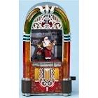 Roman 15633258 Amusements Musical Animated Santa & Reindeer in Lighted Christmas Jukebox